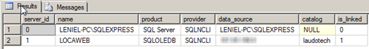 Linked servers linked to my local SQL Server Express instance