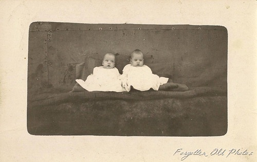 Postcard Gladys and Esther Strawrey Twins DL Antiques