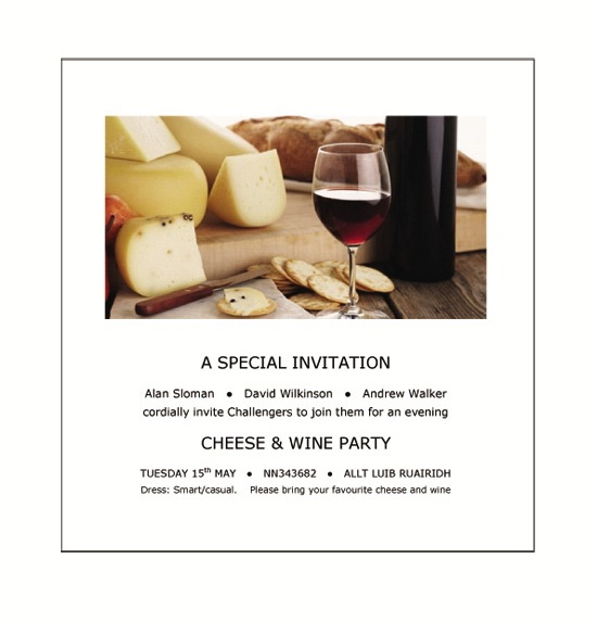 Cheese & Wine A SPECIAL INVITATION