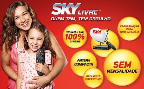 SKY Livre – Comprar Antena, Preços, Pacotes e Programação - Teclando Tudo