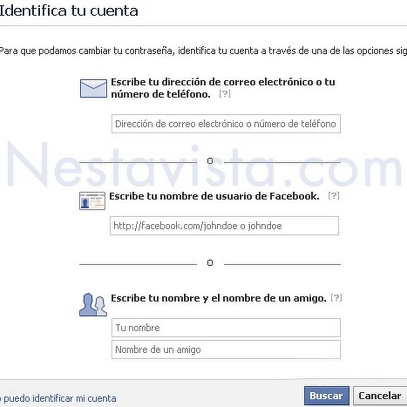 Cómo recuperar mi cuenta de Facebook si ya no puedo entrar?
