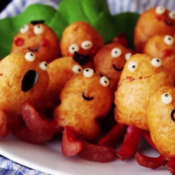 осьминоги из сосисок рецепт с фото