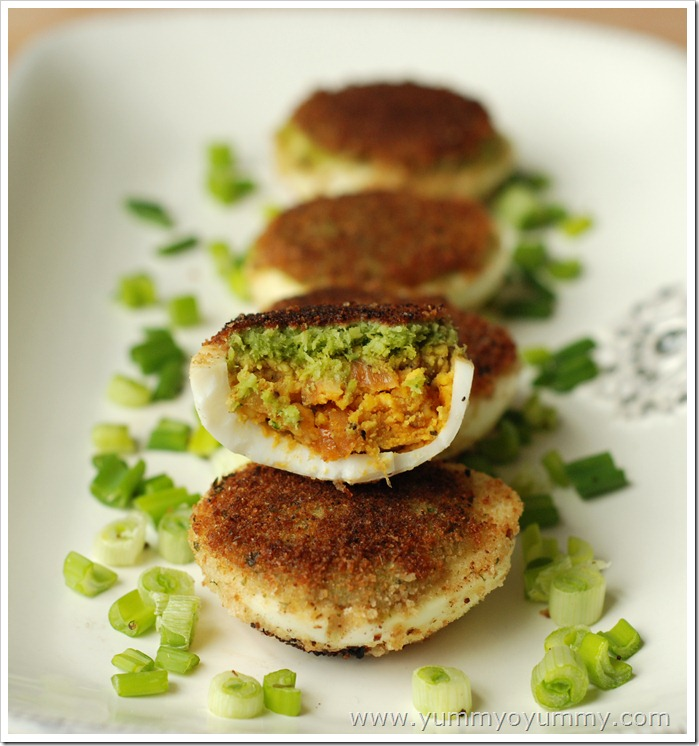 Egg-chutney cutlets