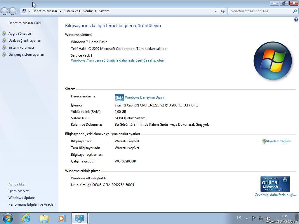 Windows 7 Sp1 Türkçe Tüm Sürümler Tek DVD 2018
