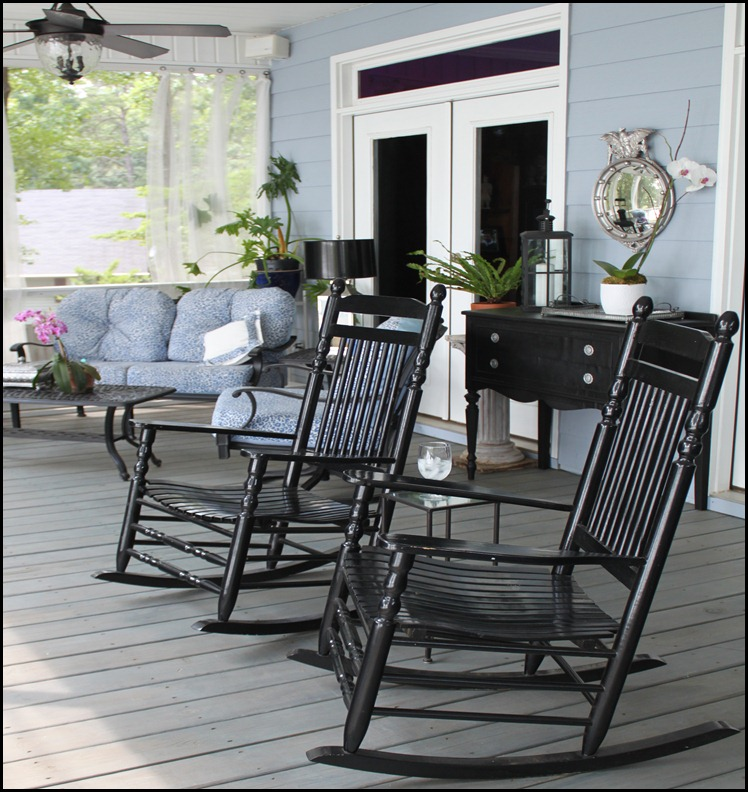 screened porch upper rocking chairs