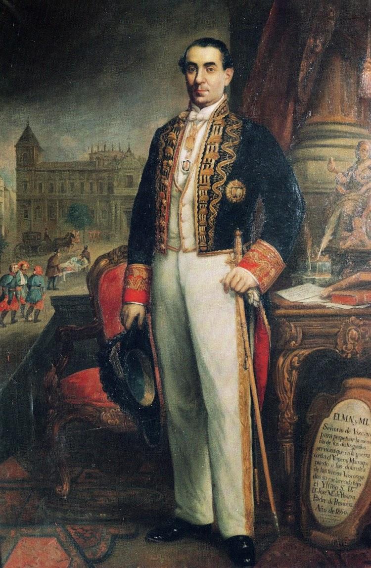 José María de Ybarra y Gutiérrez de Cabiedes. Cuadro existente el el Ayuntamiento de Sevilla. Del libro La Naviera Ybarra.JPG