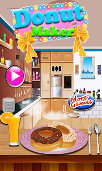 donut maker cooking