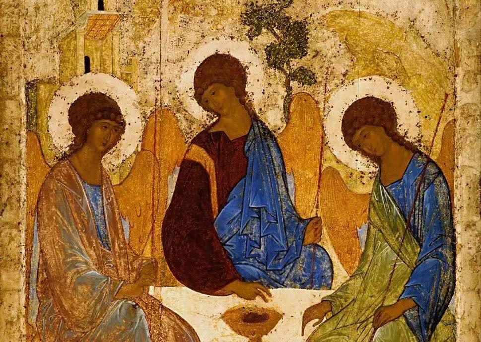 Bức icon Ba Ngôi Thiên Chúa của Andrei Rublev.