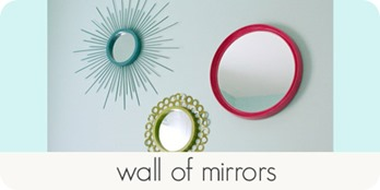 wall of mirrors
