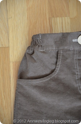 Tutorial: How to sew pockets in children's trousers