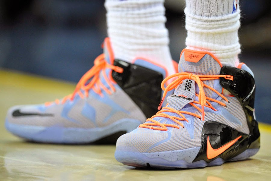cheap for discount ce574 8db91 LeBron Records Triple Double and Debuts New LeBron 128217s on Easter ...