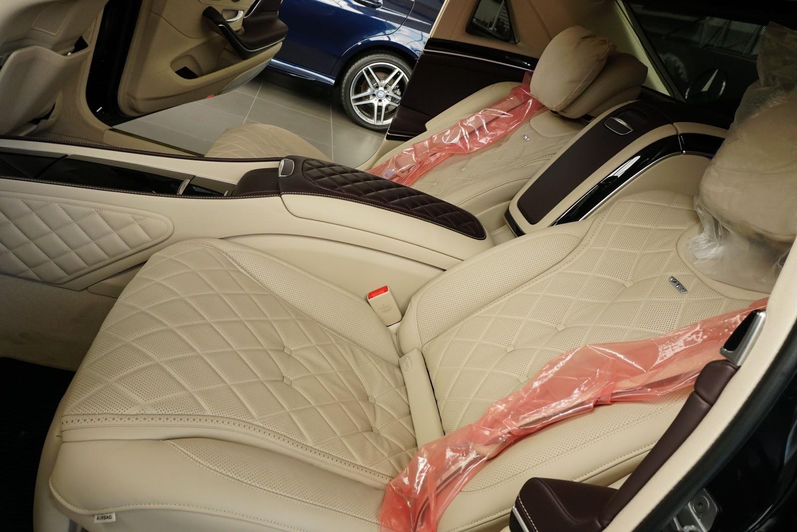 Nội Thất Xe Mercedes Benz S600 MAYBACH Màu Đen 016