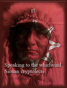 Speaking to the whirlwind - Siouan Cryptolects Cover