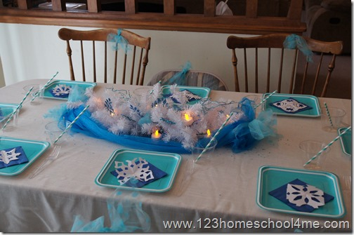 Disney Frozen Table Decorations