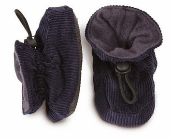 Melton Baby Booties- Navy