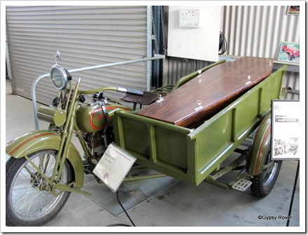 Who said Motorcycle hearses were a new thing? This one is a Harley Davidson.