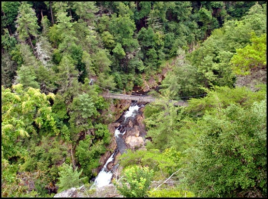 25e3 - North Rim Trail - view Hurrican Falls Bridge