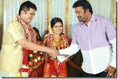 Balachandra Menon daughter Bhavana wedding still