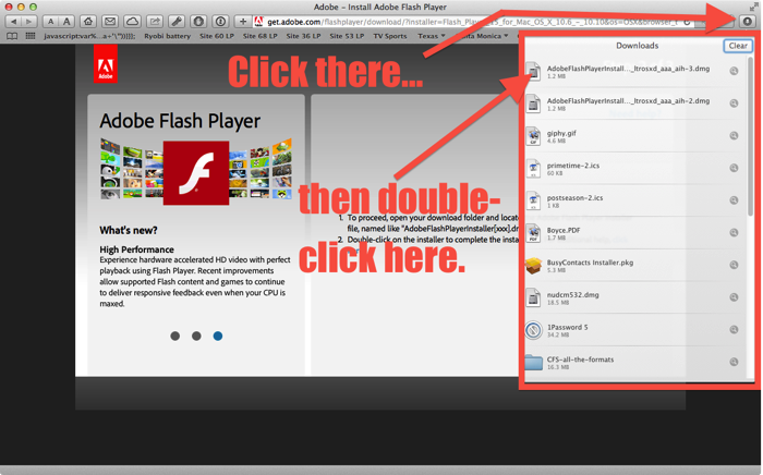 Safari downloads