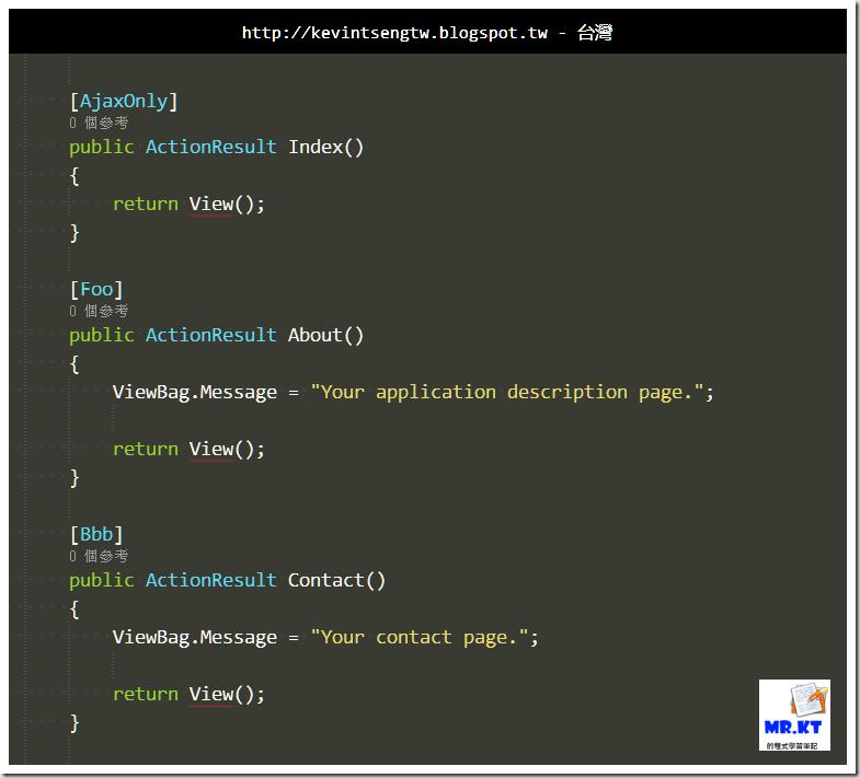 Mrkt 的程式學習筆記: ASP.NET MVC