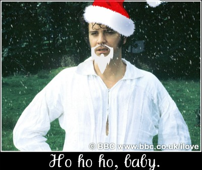 mr darcy dressed as santa