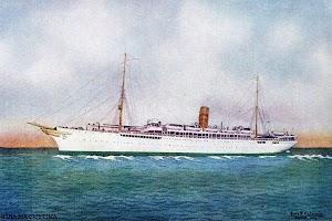 Vapor REINA MARIA CRISTINA. Postal promocional de los cruceros a las regatas de Cowes