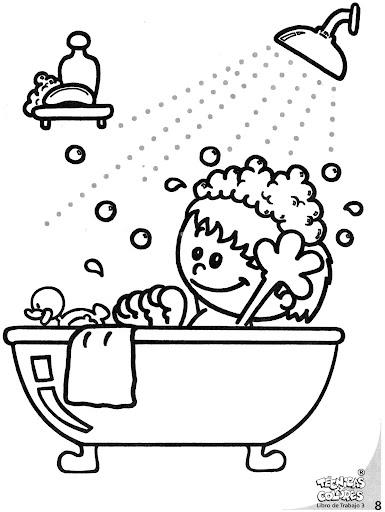 Dibujos Para Colorear De Niños Utilizando El Baño Imagui