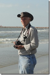 Pete at the beach in Galveston