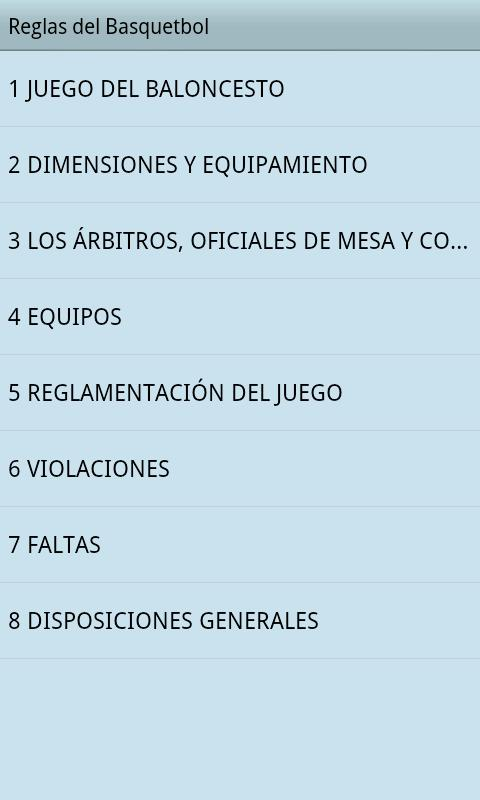 Reglas del Basquetbol - screenshot