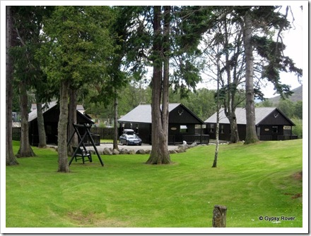 Family cabins at a local hotel in Braemar.