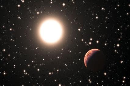 exoplaneta em órbita de estrela no enxame M67
