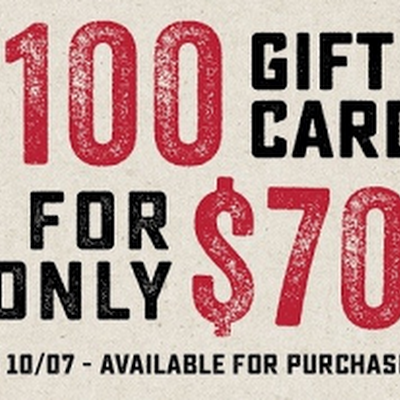 100 gift cards for only 70 Its true but available online only