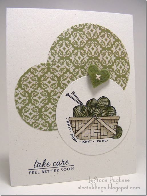LeAnne Pugliese WeeInklings Casology Get Well Card Stampin