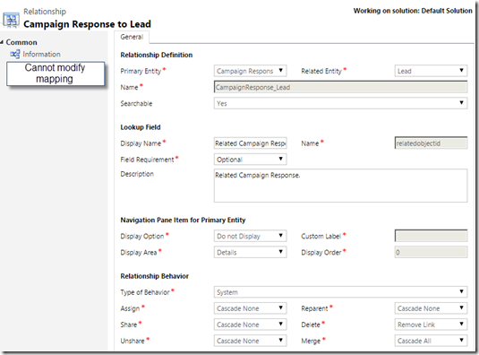Can't Mapping Campaign Response Fields to Lead in CRM