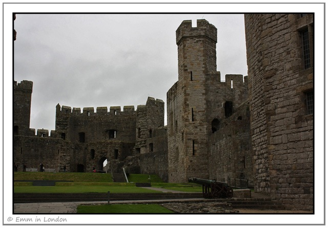Courtyard and Cannon at Caernarfon Castle