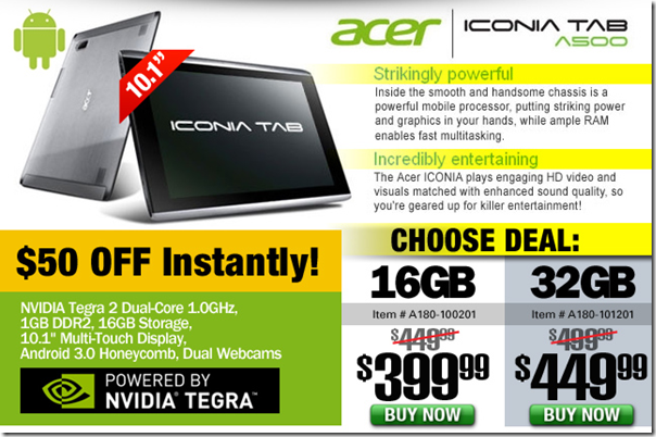 TigerDirect.com  acer iconia tab