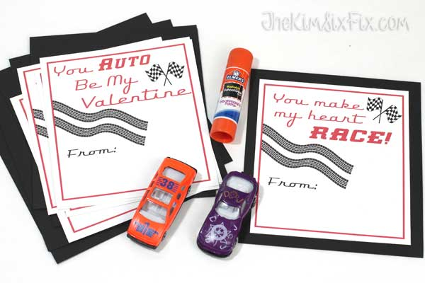 Gluing valentines together