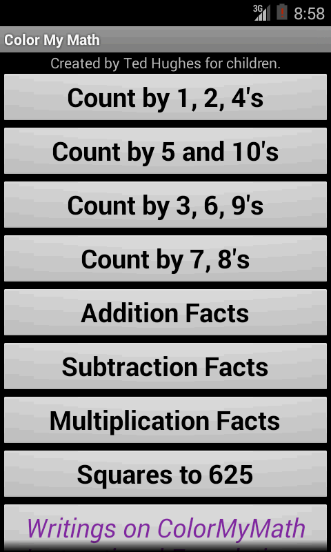 Color My Math Facts - Android Apps on Google Play