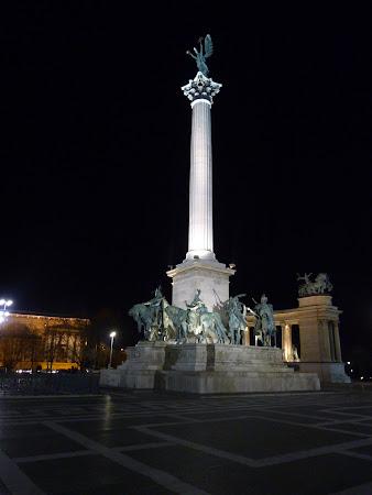 Obiective turistice Budapesta: Piata Eroilor Budapesta