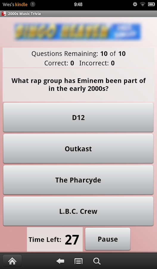 2000s Music Trivia- screenshot