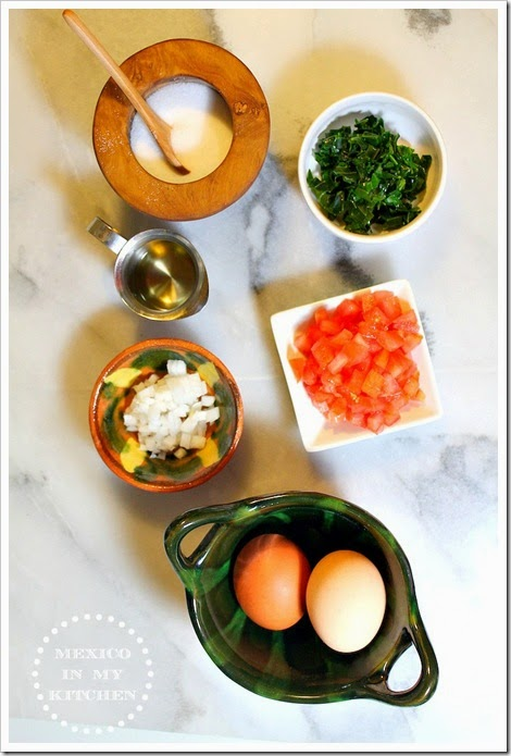 Scrambled Eggs with Chaya | Ingredients