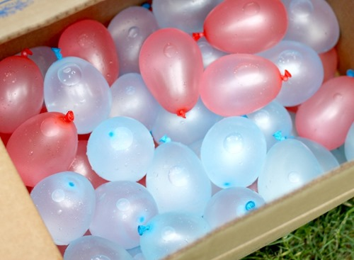 water balloons in a box