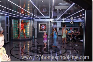 Marvel Avenger's Academy for kids on Disney Cruises