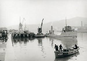 Construcción de zonas portuarias en Zorroza. Año desconocido. Foto del libro PUERTO DE BILBAO. UNA MEMORIA VISUA