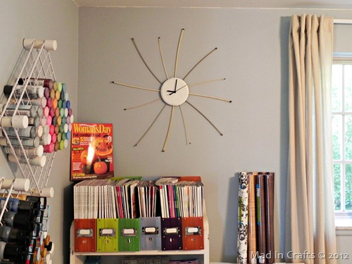 Vintage Knitting Needle Clock - Mad in  Crafts
