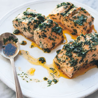 Steamed Salmon with Chermoula Recipe