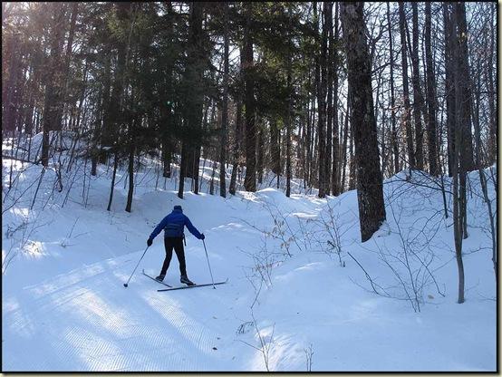Herring boning on trail 52