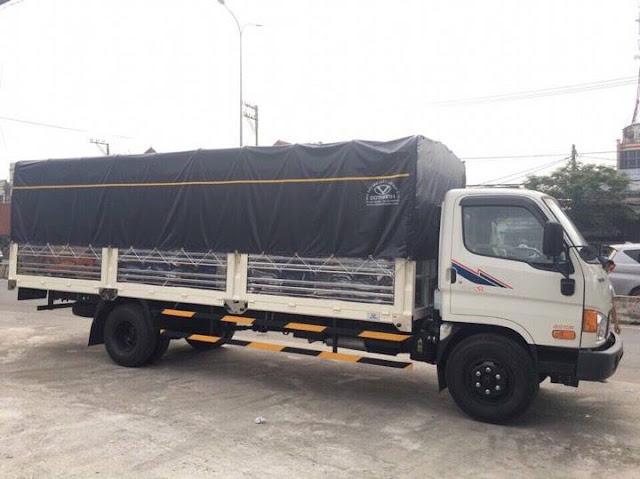 Hyundai HD120sl 8 tấn thùng bạt dài 3 khoang