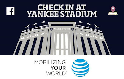 Check in at Yankee Stadium on Facebook at todays game and head