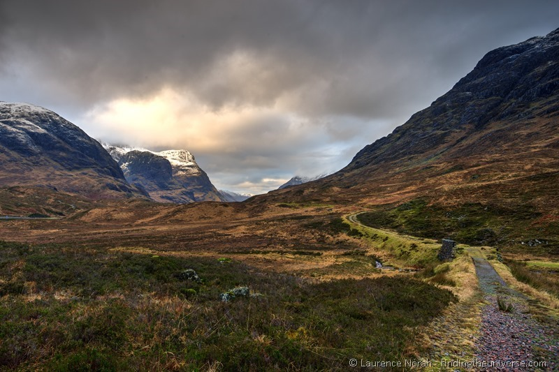 Glencoe valley view Scotland highlands